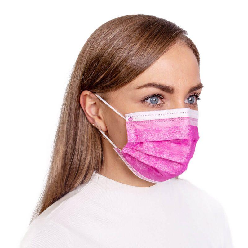 mediciniska sejas maska roza